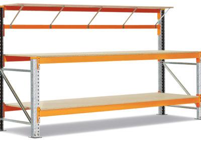 Dexion Speedlock work bench with shelf