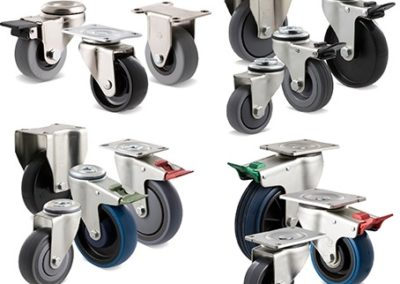 Light to medium duty castors